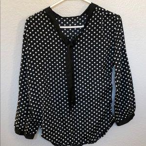 Pocket dot blouse brand new